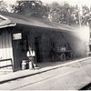 Atwaters station with station master. (Photo ID: 28061)