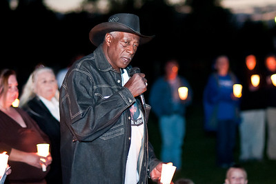 Jeremiah Bradford's Grandfather speaks at a vigil in honor of Jeremiah