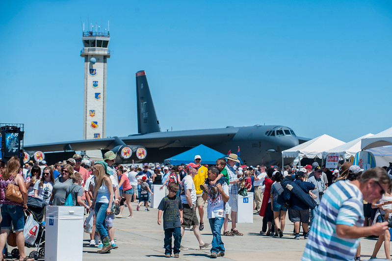 The surrounding public gathers for the Warriors Over the Wasatch air show on Hill Air Force Base in Layton on June 26, 2016.
