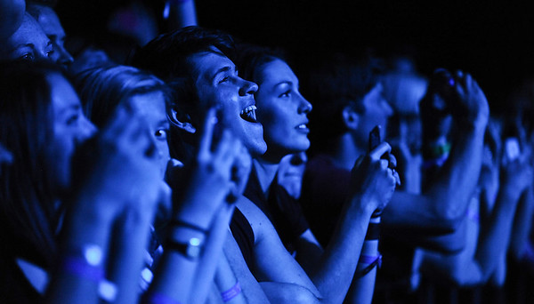 People gather to watch a sold out show of Imagine Dragons. At the Dee Events Center in Ogden On October 23 2013. (Brian Wolfer Special to the Standard-Examiner)