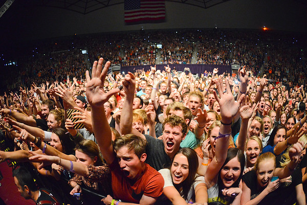 The sold out crowd enjoys the band Imagine Dragons concert. In Ogden, on October 23 2013. (Brian Wolfer Special to the Standard-Examiner)