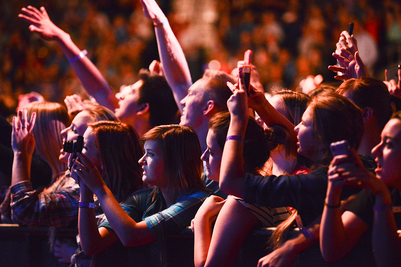 Fans take pictures of Imagine Dragons in concert. At the Dee Events Center In Ogden. On October 23 2013. (Brian Wolfer Special to the Standard-Examiner)