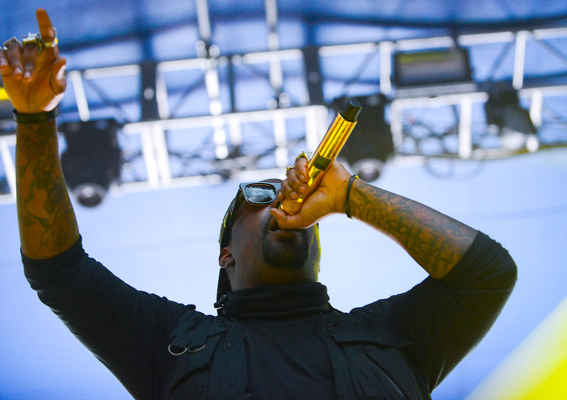 King Chip performs at Pioneer Park On thursday evening. In Salt Lake City. On August 22, 2013.(Brian Wolfer Special to the Standard-Examiner)
