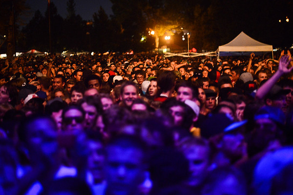 A crowd gathers for Kid Cudi and King Chip to watch them perform. In Salt Lake City. On August 22, 2013.(Brian Wolfer Special to the Standard-Examiner)