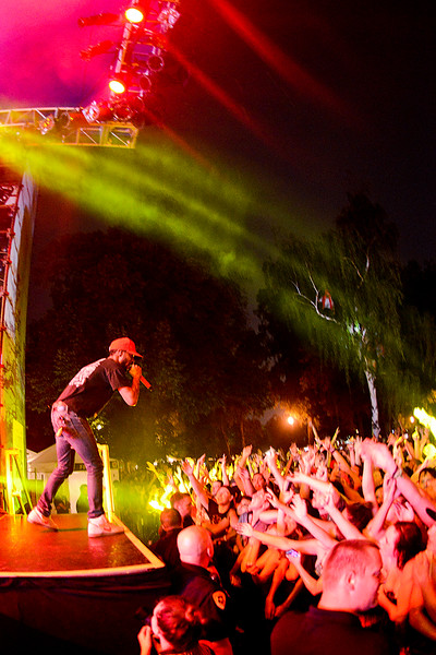 Kid Cudi performs at Pioneer Park On thursday evening. In Salt Lake City. On August 22, 2013.(Brian Wolfer Special to the Standard-Examiner)