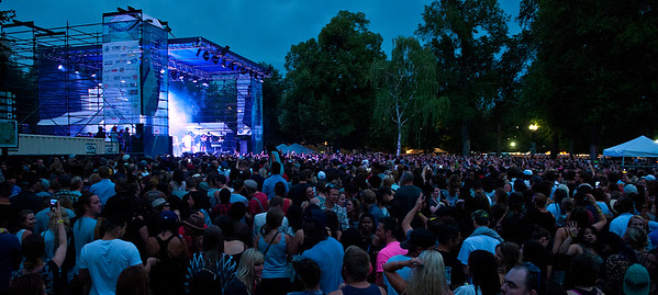 People flock to Pioneer park in Salt Lake City to see  Lauryn Hill perform  at the  Twighlight Concert series . On July 10, 2014. (BRIAN WOLFER/Standard-Examiner)