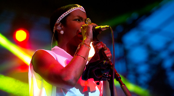 Lauryn Hill performs at Pioneer park in Salt Lake City . On July 10, 2014. (BRIAN WOLFER/Standard-Examiner)