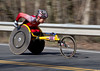 Wakako Tsuchida | Wakako Tsuchida, of Japan, races through Wellesley, Mass., on her way to winning the women's wheelchair race