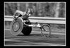 Wakako Tsuchida, of Japan, races through Wellesley, Mass., on her way to winning the women's wheelchair race