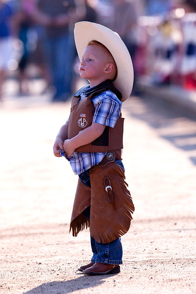 Young spectators get in the spirit of the Pioneer Days Rodeo. In Ogden, on July 19, 2014. (BRIAN WOLFER/Standard-Examiner)