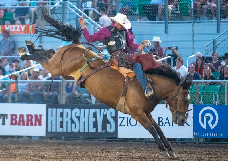 Cash Wilson competes at the Ogden Pioneer Days at Pioneer Stadium on Saturday July 20, 2021.