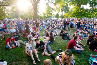 Death Cab for Cutie performs opening night of the 2015 twilight concert series in Salt Lake City on July 16, 2015.