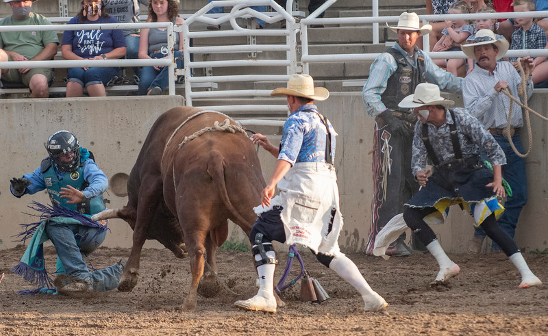 The Weber County Unfair Rodeo takes place at the Golden Spike Arena in Ogden, on August 5, 2020.