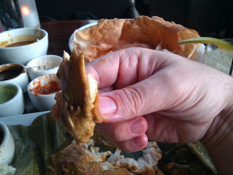 Dosa - Coconut Ginger Fish in Banana Leaf