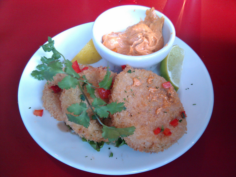 Q - Fried Green Tomatoes with Chili Lime Aioli