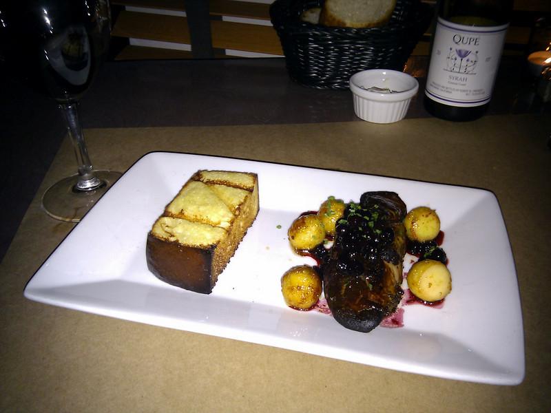 Isa Restaurant - Foie Gras with Apples, Huckleberry, Port & Custard Brioche
