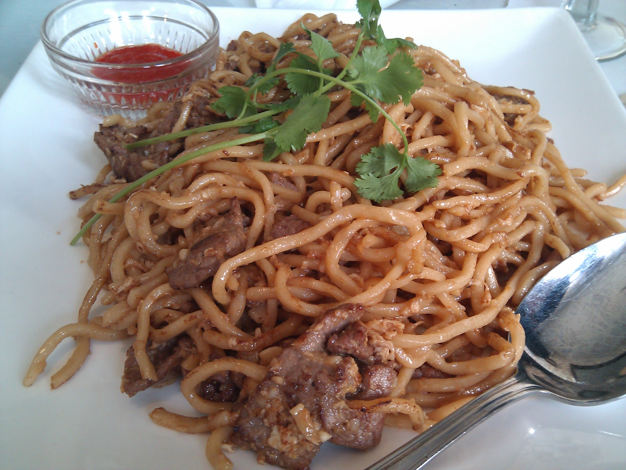 Dragonfly - Garlic Noodles with Beef