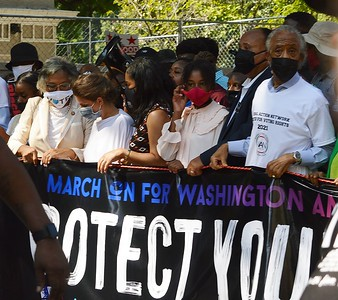 """The Rev. Al Sharpton was among the group who led off the """"March On For Washington & Voting Rights"""" in DC on August 28th."""