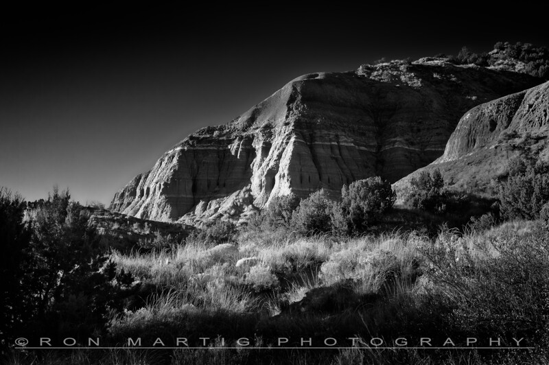 Palo Duro Canyon in B&W