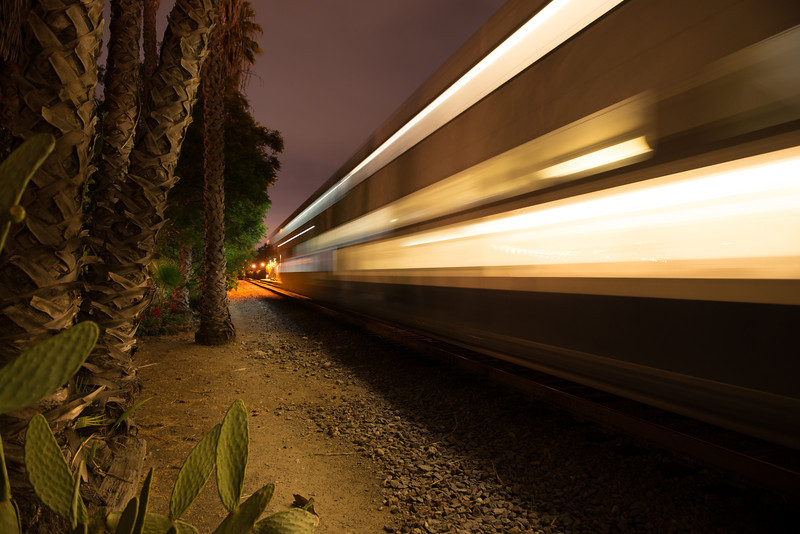 San Juan Depot Train in Motion<br /> Shutter Speed - 2.5 seconds<br /> ISO 400<br /> f/4<br /> Focal Length - 24mm