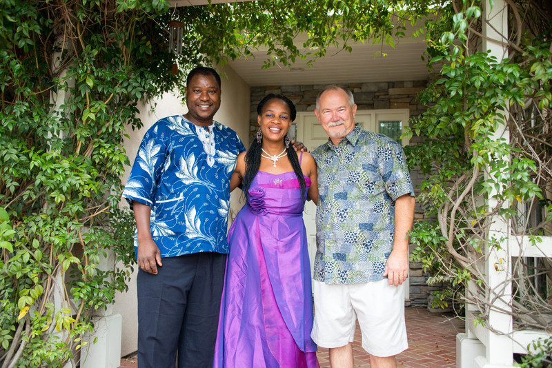 Themba and Bulhle Bembe home visit from Soweto South Africa in summer of 2013.  Here with Kerry.