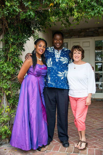 Themba and Bulhle Bembe home visit from Soweto South Africa in summer of 2013.  Here with Lisa.