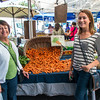 Lisa and Laura showing off the copious carrots