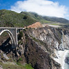 The famous Bixby Bridge approaching Big Sur