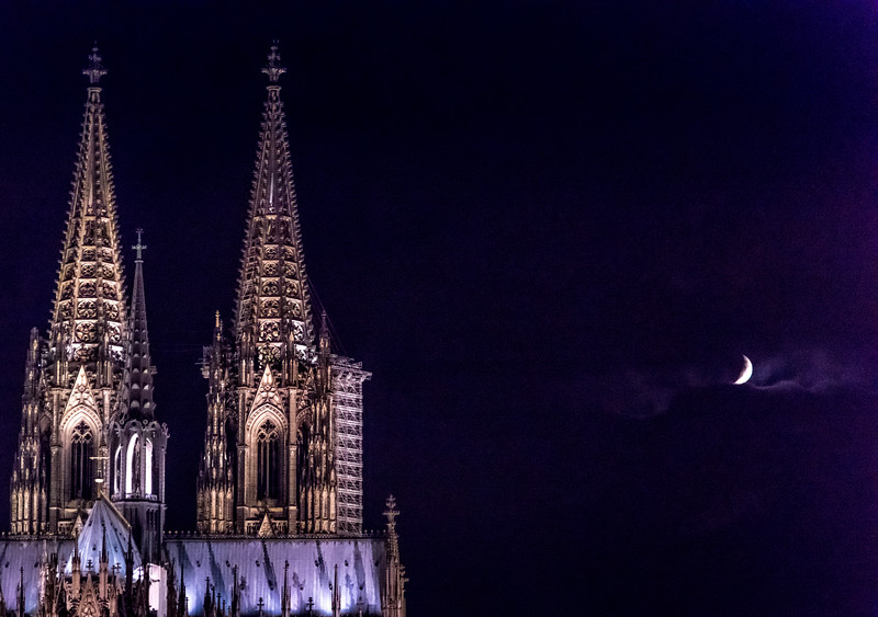 Mooning a Cathedral