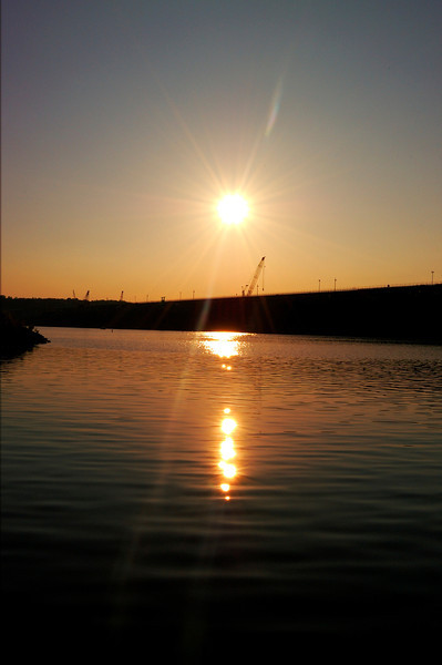 Sunset on Lake Cumberland at Wolf Creek Dam in KY.