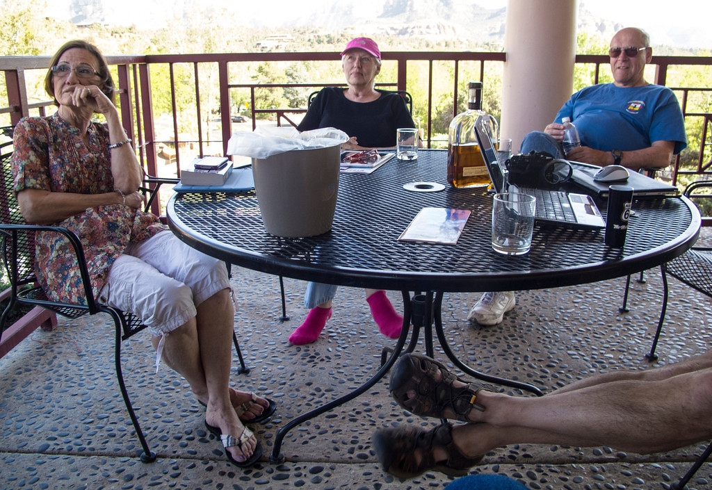 Patio - good times at the Sedona Motel