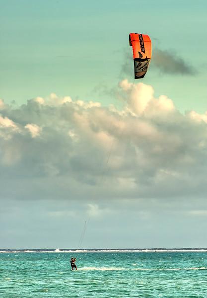 Kitesurfing In Bora Bora