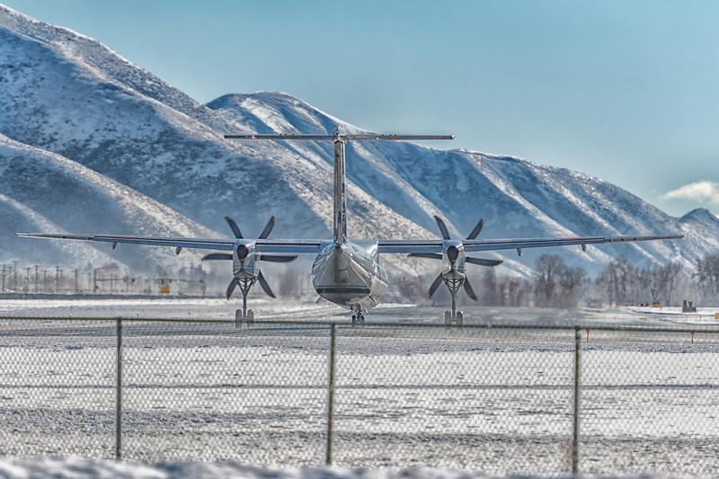Alaska Air Q-400 Departs SUN, Idaho