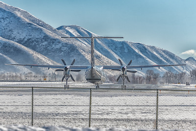 Alaska Air Q-400 Departs SUN, Idaho