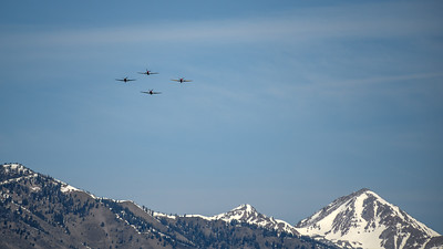 Warbird Flyover, Memorial Day 2016, Ketchum, Idaho