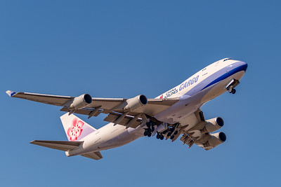 China Airlines Cargo B-747-4 Departs ANC for TPET