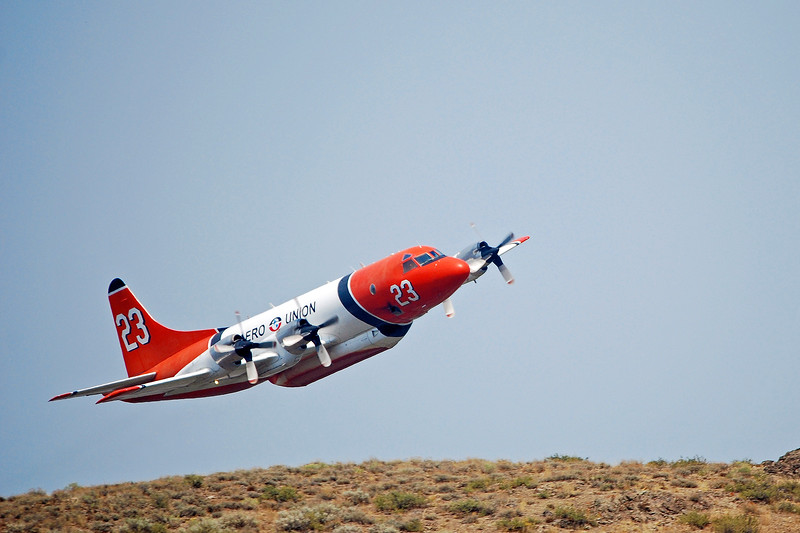 P-3 Orion Air Tanker, Castle Rock Fire, Idaho, 2007