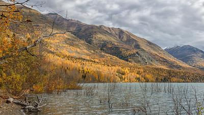 Fall at Eklutna Lake Alaska