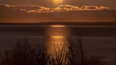 Sunset Cook Inlet, Anchorage, Alaska