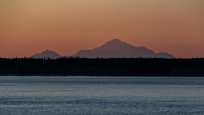 Sunset - Denali From Anchorage, Alaska
