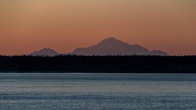 Sunset - Denali From Anchorage, Alaska