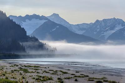 Fog on Turnagain Arm and Portage, Alaska