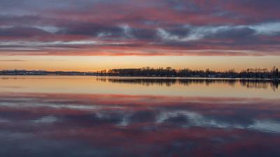 Sunset Lake Spenard, Anchorage, Alaska