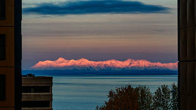 Sunrise Over Cook Inlet From Anchorage