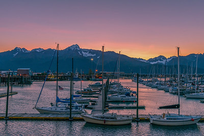 Sunrise in Seward Alaska