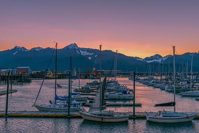 Sunrise in Seward Alaska