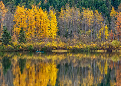 Fall Canoeing on Storm Lake in Alaska
