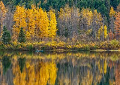 Fall Canoeing on Storm Lake in Alaska
