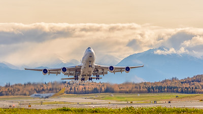 Polar 747 Departs Anchorage