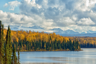Fall in Alaska, Fish Lake, Talkeetna